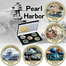 More details for pearl harbour gold plated coins - the attack on america - pearl harbour ww2