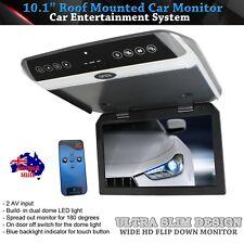 "JL1036 Grey 10.1"" HD LCD Car Flip Down Overhead Roof Mounted AV Monitor"