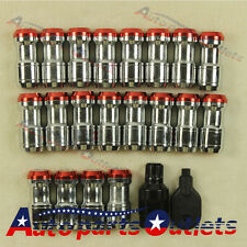 RIMS TUNER WITH LOCK M12x1.5 RED EXTENDED DUST CAP STEEL LUG NUTS WHEEL