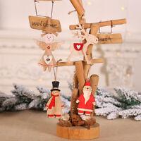 Noël Snowman / wapit / père Noël / angel Décoration en bois Sapin de Noël