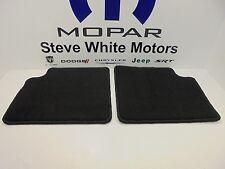 13-17 Fiat 500 New Rear Carpeted Floor Mats Black Set of 2 Mopar Factory OEM