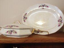French China Co. (F. C. co) Martha Washington Tureen & Oval Platter - Old