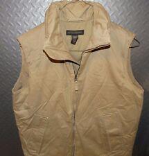 17173 Mens BANANA REPUBLIC Khaki Goose Down  PUFFER VEST ~ Coat size M Medium
