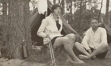 33/291 FOTO IM AK FORMAT -  ALTE ZEITEN - ZELTEN CAMPING 1927 - REISE URLAUB