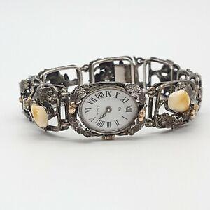 Wunderschöne 835 Silber Armbanduhr mit Grandel/Grandln - Trachten - 19.4.21