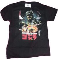Brand new Godzilla Movie The Legend Of Reborn Black T-shirt Japanese letters New