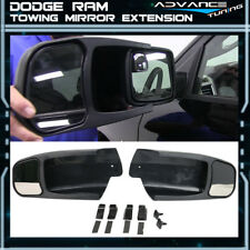 For 09-14 Dodge Ram 1500 OE Factory Style Side View Towing Mirror Extension Pair