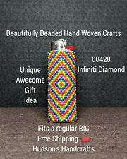 New listing 00428 Beautifully Beaded Lighter Case Fits A Regular Bic
