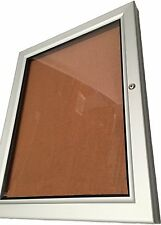 Lockable Notice Board Corkboard Outdoor Weather Proof 4xA4