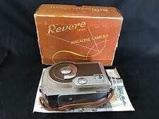 Old Vtg Revere 16MM Magazine Movie Camera With Original Box And Paperwork