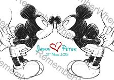 Personalised Disney Mr & Mr Engagement Anniversary Gay Wedding Mickey Mouse
