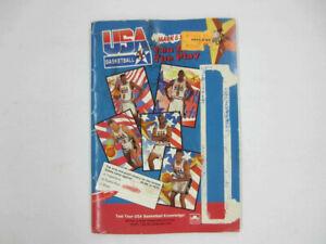 USA Basketball Mark & See Team USA (Jordan) Barcelona 1992 w/Cards Missing Pen