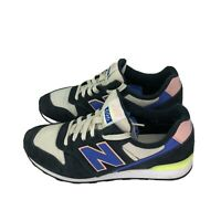 New Balance 696 Womens Size 7.5  Navy Pink Suede Running Walking Shoes Sneakers