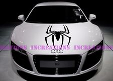Black Widow Spider Spiderman Hood Stripe Any Car Decals Stickers Racing Graphic