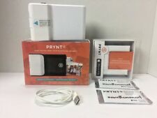 Prynt White Case For iPhone 5,5s PR10001-W & 5/5s Adapter PA10001-A & 2pk Paper