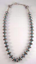 Navajo Handmade Coin Silver, Mercury Dimes Necklace - James McCabe