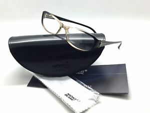 Mont Blanc Mb 393 Crystal Brown 047 Plastic Eyeglasses Frames 55-16-140 Italy