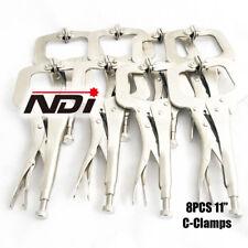 "8pc Heavy Duty Steel 11"" C-Clamps Mig Welding Locking Plier Vice Grip ND0105"