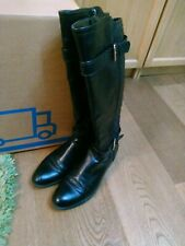KNEE HIGH BLACK BOOTS. SIZE 8 8.5. EXC COND.