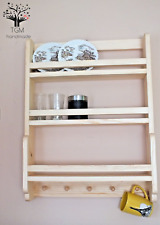 s100 Wooden Kitchen Wall Cabinet | Rustic Cupboard Storage Shelf | Display Unit