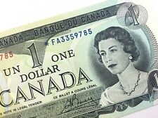 1973 Canada 1 One Dollar Uncirculated FA Replacement Lawson Bouey Banknote R313