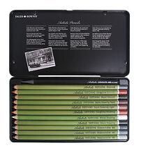 Daler Rowney Artist Sketching Pencil Set of 12 Presented in Metal Tin