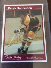 Derek Sanderson  Tucker Anthony / Freedom Capital  Gold Autograph Boston Bruins