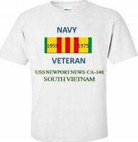 USS NEWPORT NEWS CA-148 * SOUTH VIETNAM* VIETNAM VETERAN RIBBON 1959-1975 SHIRT