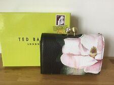 Ted Baker AGATA Opal Print Black Leather Mini Crystal Bobble Purse In Gift Box