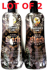 Lot of 2 Australian Gold Sinfully Black 15x Bronzer Indoor Tanning Bed Lotion