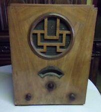 poste RADIO ancien TSF caisse en bois