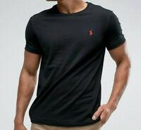 Ralph Lauren Polo T Shirt Tee Top Short Sleeves Crew Neck Black Size XL
