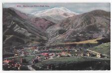 Vintage Postcard Manitou And Pike's Peak Colorado Bird's Eye View Mountain Town
