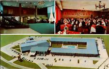Vintage 1950's Holiday Inn Airline Hwy South Baton Rouge Louisiana LA Postcard