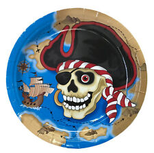 Pirate Plates 18cm Lunch Plate 6 Pack Party Supplies Tableware Serveware Boys