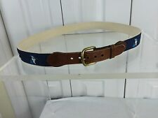 Leather Man Sz 40 Belt Songbird Pattern Leather Ends