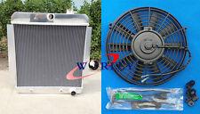 3 Row For 1955-1959 CHEVY PICKUP TRUCK V8 1956 1957 1958 Aluminum Radiator + Fan