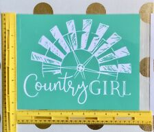 """RETIRED—New In Package """"Country Girl"""" Chalk Couture Transfer"""