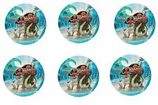 Moana Edible Party Image Cupcake Topper Frosting Icing Sheet Circles