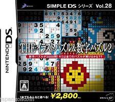 Used DS Simple Series Vol 28 The Illust Puzzle & Suuji NINTENDO JAPANESE IMPORT