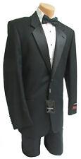 New Men's Armanno Uomo Black Tuxedo with Pants Wedding Groom Prom Mason 44R 38W