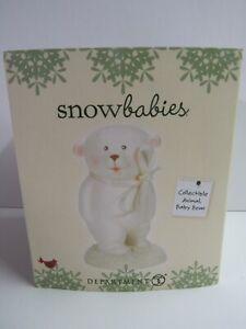 Dept 56 Snowbabies Collectible Animal Baby Bear Standing 6004931