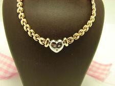 Natürliche runde Echtschmuck aus mehrfarbigem Gold Halsketten und Anhänger