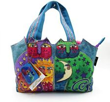 LAUREL BURCH Celestial Felines Medium Tote Shoulder Handbag ~ New