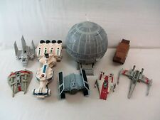 Lot Of 8 STAR WARS Vehicles Ships Action Fleet Micro Machines X-Wing Death Star+