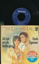 "EUROVISION 1972 45 TOURS 7"" HOLLANDE SANDRA + ANDRES ALS OM DE LIEFDE GAAT"