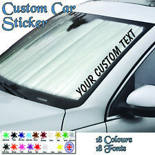 personalised custom text jdm, windscreen Sticker, vinyl, decal, car van graphics