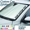 personalised custom text jdm, windscreen Sticker, vinyl, decal, car van graphics