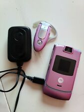 Motorola Razr V3m Pink Razr Flip Verizon Cell Phone Bluetooth Lot of 3