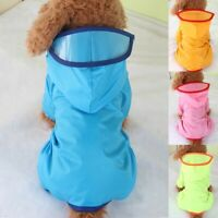Pet Dog Rain Coat Clothes Puppy Four-legged Waterproof Jacket Hooded Raincoat